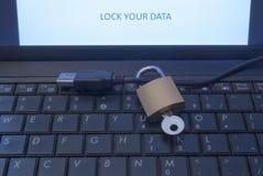 Trave seus dados Foto de Stock