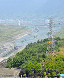 Trave Three Gorge Dam foto de stock royalty free