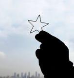 Trave uma estrela imagem de stock