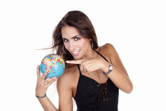 Travel. Globe in hands Royalty Free Stock Images