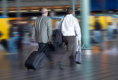 Travel. Concept, photo taken at airport (blurry Stock Photography
