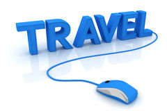 Travel. This is a 3D rendered picture Stock Photography