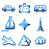 Travel 2 icons Royalty Free Stock Photo