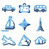 Travel 2 icons royalty free illustration