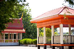 Travel. Art of pavilion in temple thailand Stock Photos