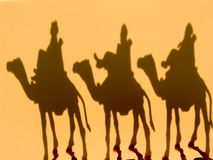 Travel. Wisemen shadows royalty free stock images