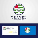 Travel Abkhazia Creative Circle flag Logo and Business card desi. Gn - This Vector EPS 10 illustration is best for print media, web design, application design stock illustration