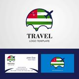Travel Abkhazia Flag Logo and Visiting Card Design. This Vector EPS 10 illustration is best for print media, web design, application design user interface and royalty free illustration