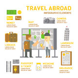 Travel abroad infographic flat design Stock Photo