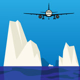Travel abstract. Travel or Air Cargo abstract, color illustration vector illustration