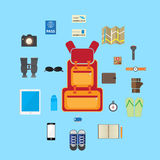 Travel accessories icon flat  Royalty Free Stock Photography