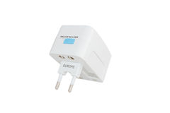 Travel adapter royalty free stock images