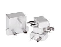 Travel adapters isolated Stock Photo