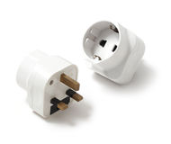 Travel adaptors Stock Photo