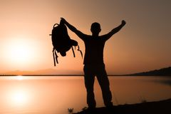 Travel and adventure with a backpack Stock Photos