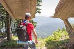 Travel adventure and hiking activity, active and healthy lifestyle on summer vacation and weekend tour Royalty Free Stock Photos