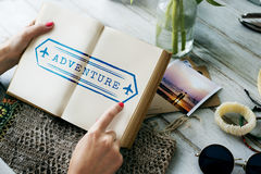 Travel Adventure Holiday Stamp Concept Royalty Free Stock Photo