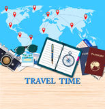 Travel and adventure template Stock Photo