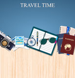 Travel and adventure template Stock Images
