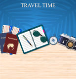 Travel and adventure template Stock Image