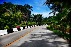 Travel, adventure, tropical road in Thailand. Road and Highway Stock Photo