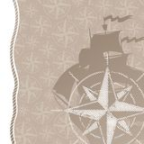 Travel & adventures background with compass rose Stock Photos