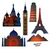 Travel advertising design. Highly realistic illustration. Stock Images