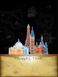 Travel advertising design Royalty Free Stock Photo