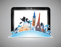 Travel advertising design Royalty Free Stock Image