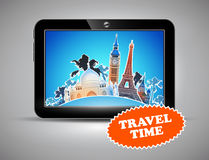 Travel advertising design Royalty Free Stock Images