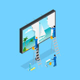 Travel Advertising Isometric Concept Stock Images
