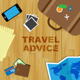 Travel Advice Represents Trips Support And Travels Royalty Free Stock Image