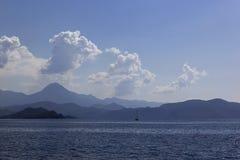 Travel on the Aegean Sea yacht Turkey. Travel on the Aegean Sea yacht, Turkey , background stock image