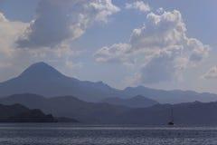 Travel on the Aegean Sea yacht Turkey. Travel on the Aegean Sea yacht, Turkey , background royalty free stock photo