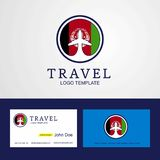 Travel Afghanistan Creative Circle flag Logo and Business card d. Esign - This Vector EPS 10 illustration is best for print media, web design, application design vector illustration