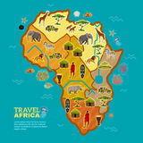 Travel Africa Poster Royalty Free Stock Photography
