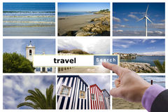 Travel agency. Finder tourist destinations, travel agency Royalty Free Stock Image