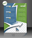 Travel Agency Flyer Royalty Free Stock Photography