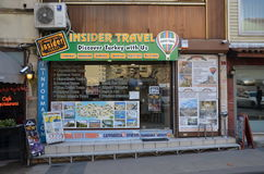 Travel agency Insider Travel. ISTANBUL, TURKEY - DEC 26, 2015 - Travel agency Insider Travel. Istanbul, Turkey Stock Photos