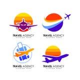 Travel agency logo design template vector illustration
