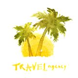 Travel agency logo template Stock Image
