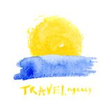 Travel agency logo template Royalty Free Stock Image