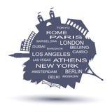 Travel agency logo. Vector illustration Royalty Free Stock Photography