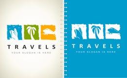 Free Travel Agency Logo Vector. Logo Design. Ship, Palm And Plane Logo. Royalty Free Stock Photography - 159921237