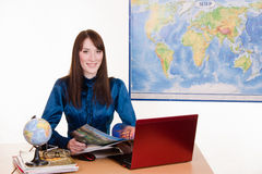 Travel agency manager Royalty Free Stock Image