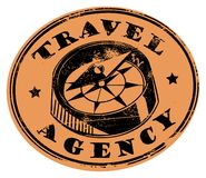 Travel agency stamp Stock Photo