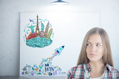 Travel agency startup Stock Image
