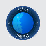 Travel agency vector logo, emblem Stock Photography