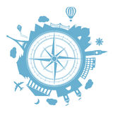 Travel agency vector round icon Stock Photo
