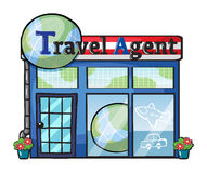 A travel agent office Stock Photography